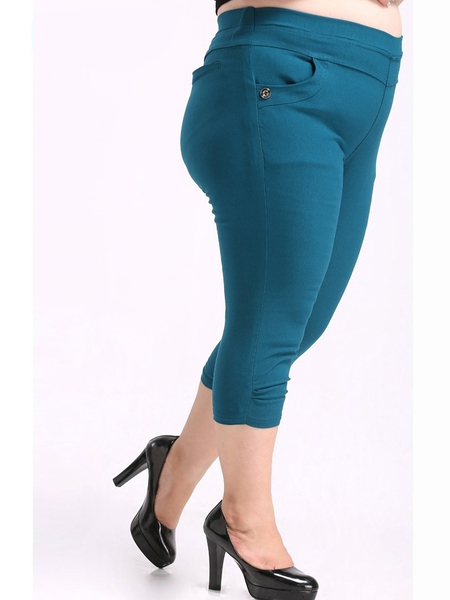 Teal 3/4 Essential Pants (EXTRA BIG SIZE)