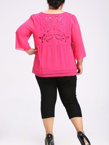 Meryl Cutout Blouse (EXTRA BIG SIZE)