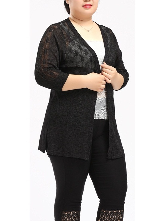 Shell Light Knit Cardigan (2 Colours) (EXTRA BIG SIZE)