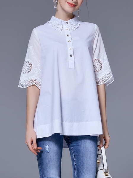 Adria Lace Open Sleeve Blouse