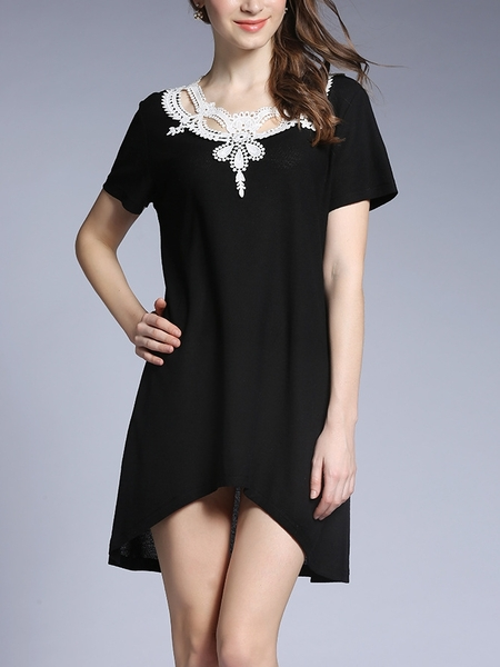 Airlia Crochet Neckline Dress