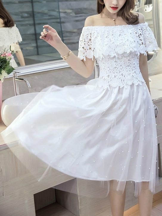 Alesandra Pearl Tulle Dress (S-XXXXL)