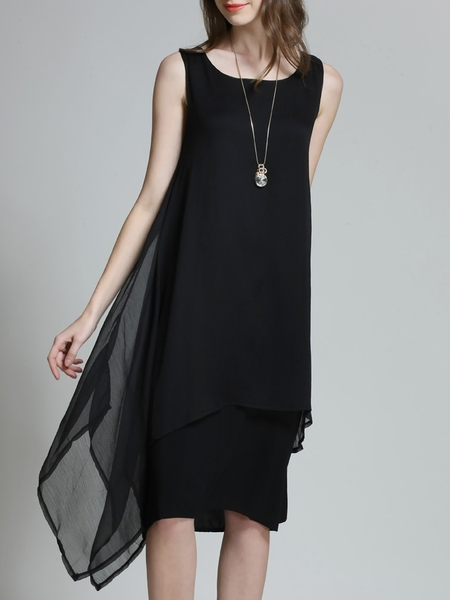 Amaranda Layer Sleeveless Dress (BLACK)