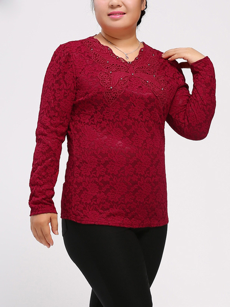 Anissa Lace L/s Top (EXTRA BIG SIZE)
