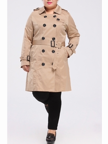 Anjeanette Trench Coat (EXTRA BIG SIZE)