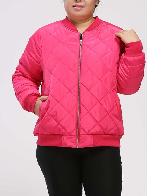 Angelica Padded Baseball Jacket (EXTRA BIG SIZE)