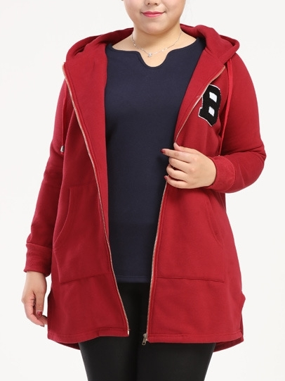 Anika B logo Long Hoody (EXTRA BIG SIZE) (2 COLOURS)