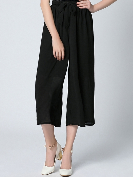 Aubrianne Wide-leg Culottes Skirt-Pants
