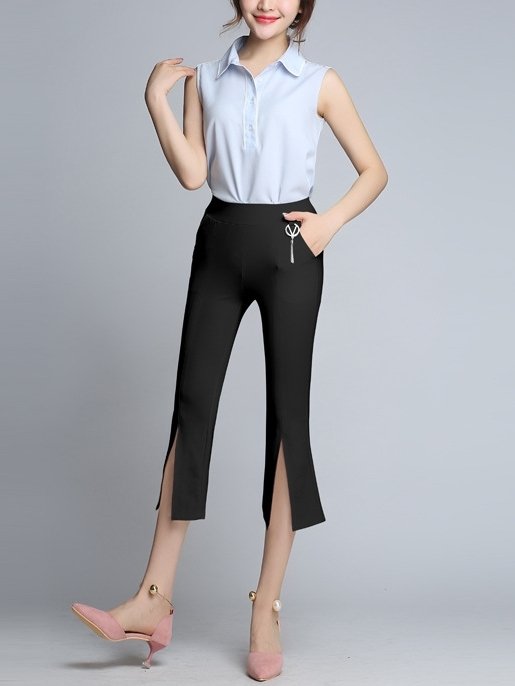 Arianna Slit-front Pants (EXTRA BIG SIZE)