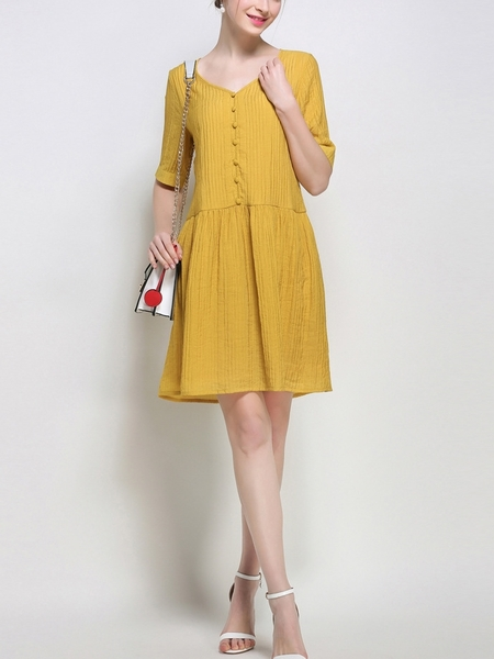 Brandy Button Dress