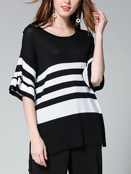Brienne Monochrome Stripe Top