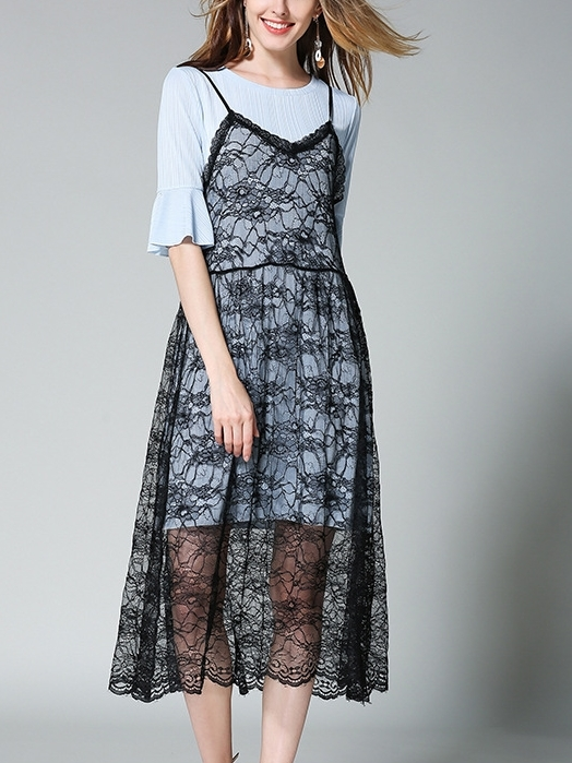 Brigetta 2-Piece Lace Midi Dress