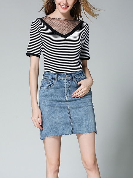 Brinley Washed Denim Skirt