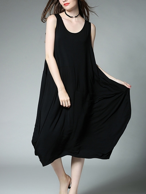 Britannia Sleeveless Asymmetric Dress