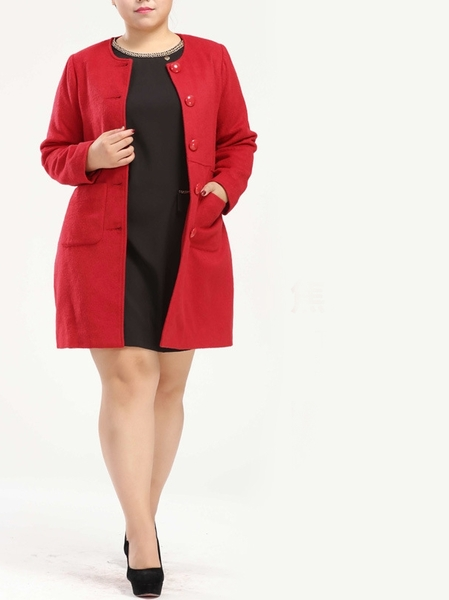 Diana Simple Long Length Woolen Winter Coat (EXTRA BIG SIZE)
