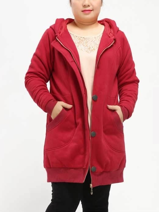 Dianne Thick Hoody Long Winter Coat (EXTRA BIG SIZE)