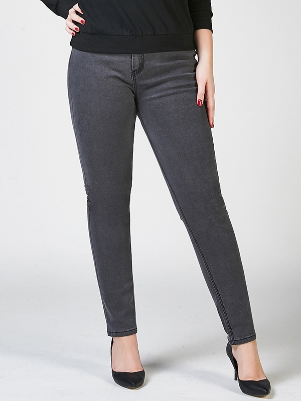 Elana Grey Denim Skinny Jeans
