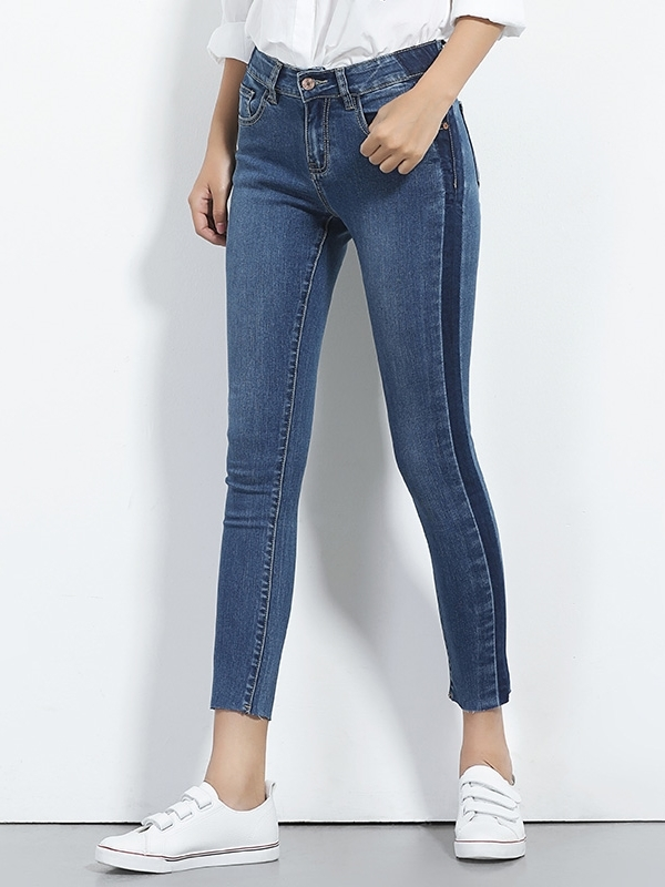 Elaina Dark Side Capri Denim Jeans