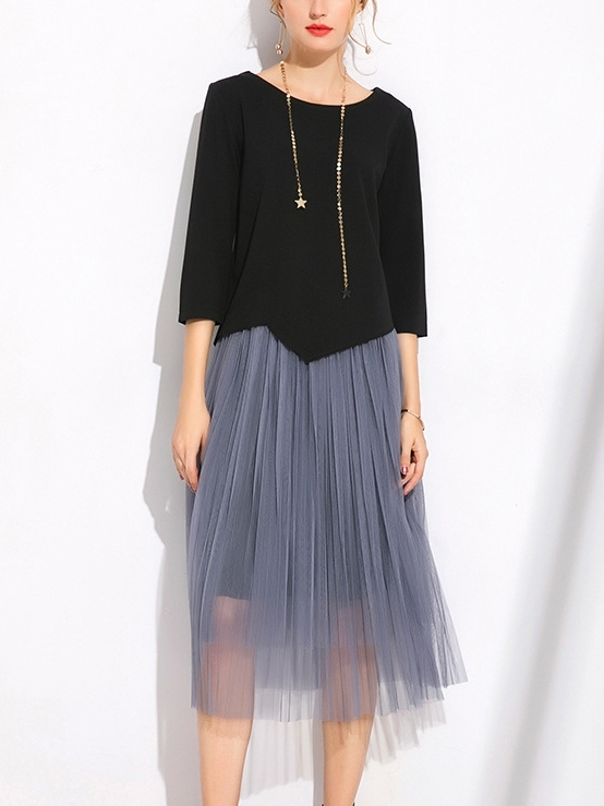 Eden Top and Tulle Midi Skirt 2 Piece Set