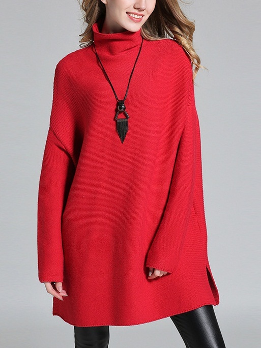 Esmee Turtle-neck Sweater (Red)