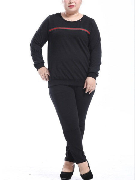 Eudosia Top and Pants Tracksuit Set (EXTRA BIG SIZE)