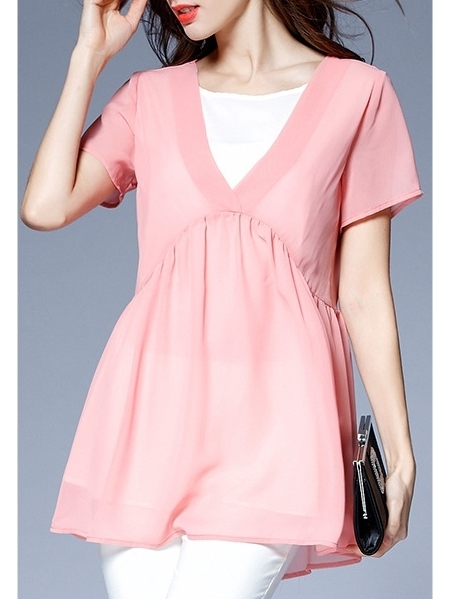 Perelle Pink Layer Blouse