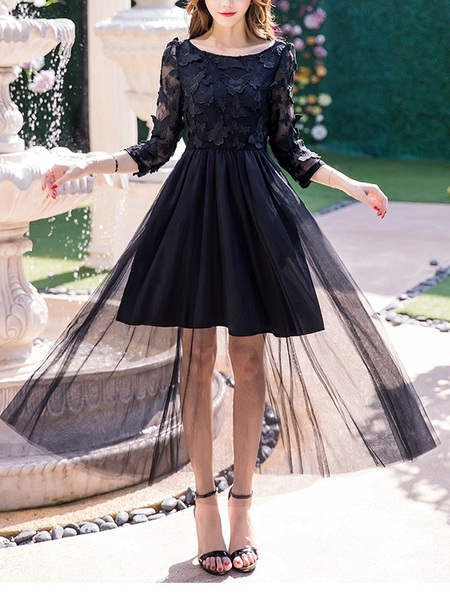 Evelyne Butterfly Applique Tulle Maxi Dress