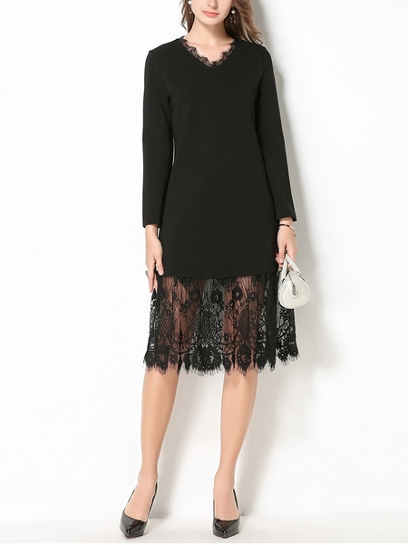 Hollyn Lace Hem Midi Dress