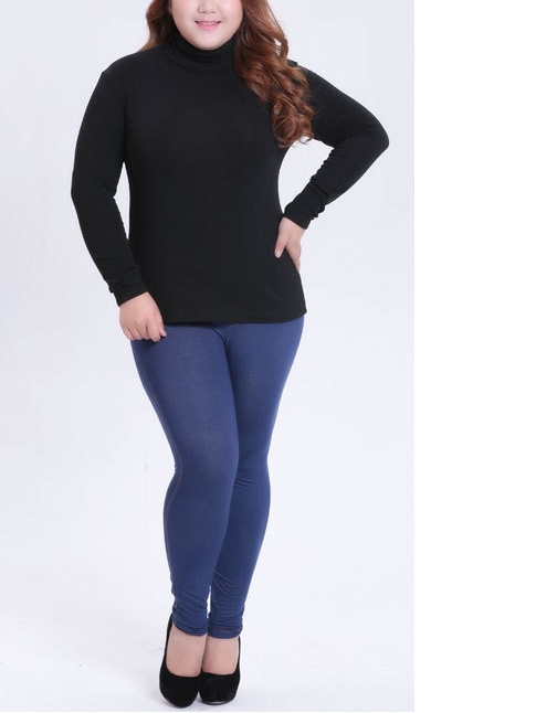 Irmina Woolen High Neck L/s Top (EXTRA BIG SIZE) (Great for Layering during Winter!)