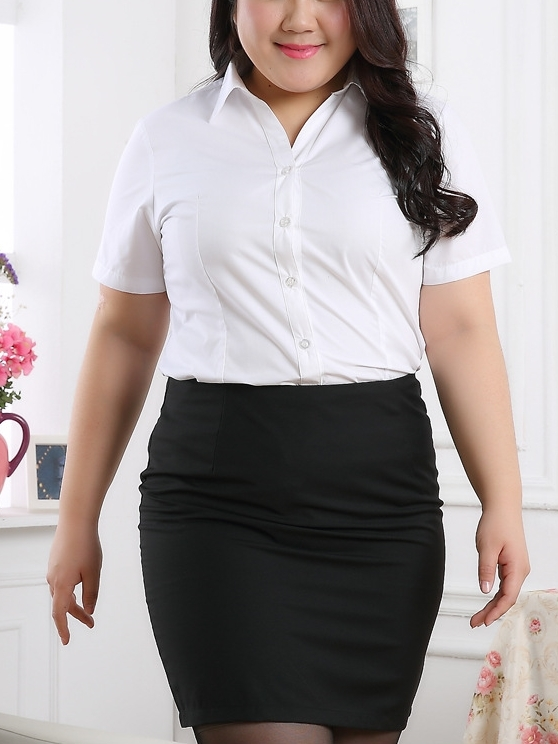 Irsia S/s Business Shirt (EXTRA BIG SIZE) (XL-9XL)