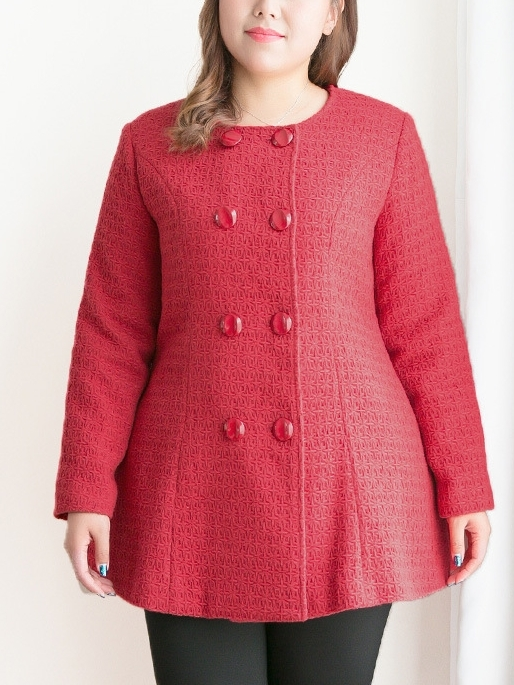 Jacqualyne Smart Red Autumn/Winter Coat (EXTRA BIG SIZE)