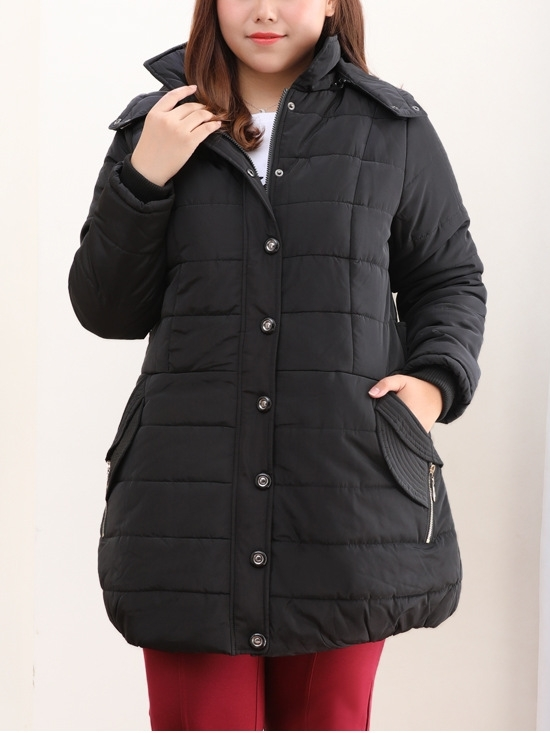 Jacqui Padded Tunic Length Winter Jacket (EXTRA BIG SIZE)