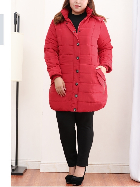 Jacqui Padded Tunic Length Winter Jacket (EXTRA BIG SIZE) (2 COLOURS)
