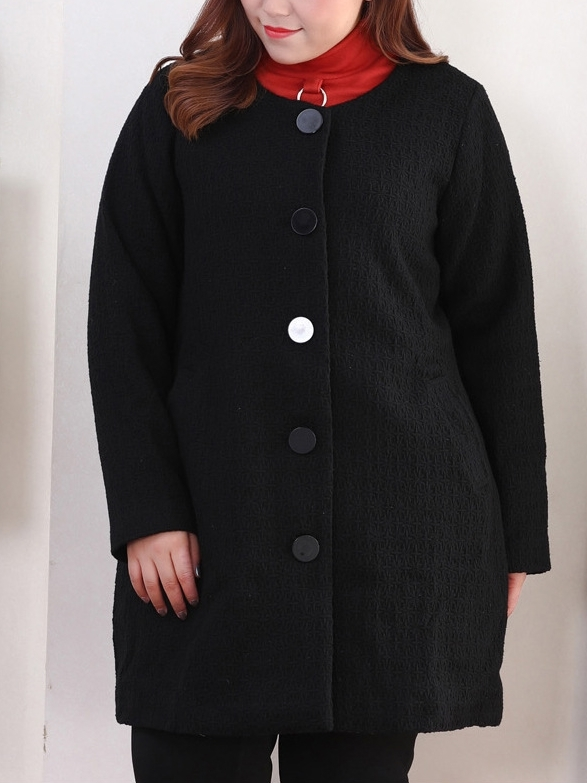 Jaden Woolen Winter Coat (EXTRA BIG SIZE) (2 COLOURS)