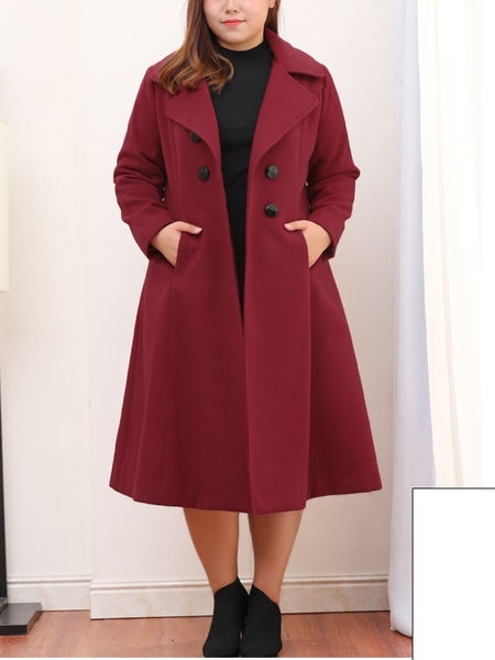 Jaimi Long Length Winter Coat (EXTRA BIG SIZE) (2 COLOURS)