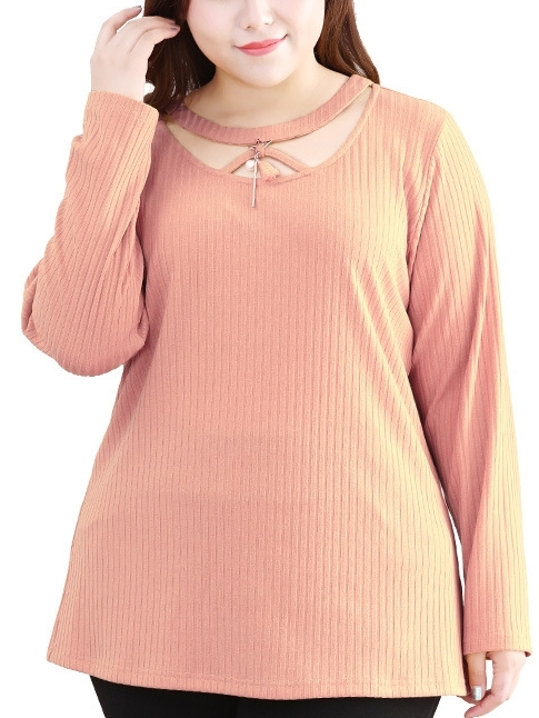 Jaine Tassel Layer Knit L/s Top (EXTRA BIG SIZE)