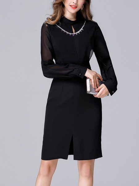 Jillian Gem Neckline Dress
