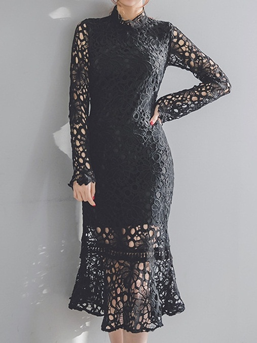Kadience Lace Mermaid Midi Dress