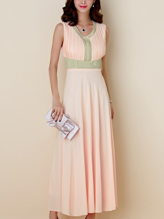 Karliah Diamante Maxi Dress -