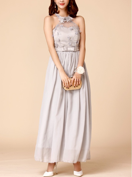 Karli Halter Maxi Evening Dress