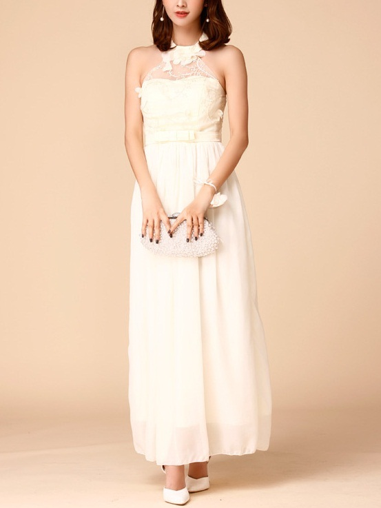 Karli Halter Maxi Evening Dress -