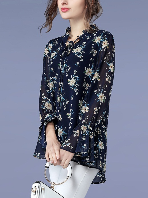 Kathiria Floral Flare Sleeve L/s Blouse