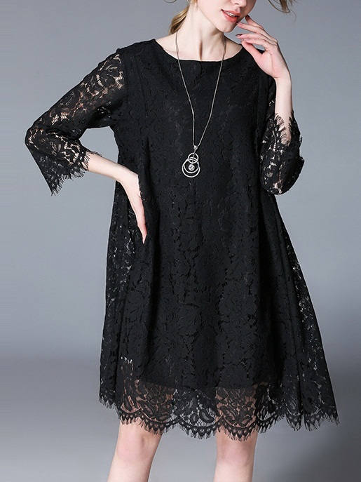 Katyna Eyelash Lace Dress -