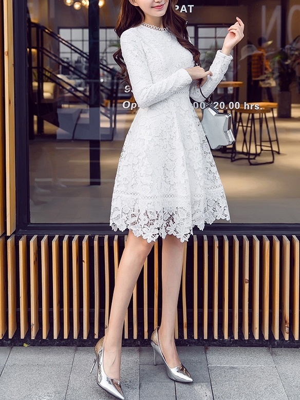 Kelcey Crochet Lace Dress (3 Colours)
