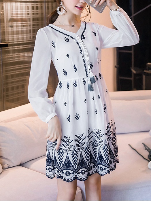 Kelci Embroidered Dress