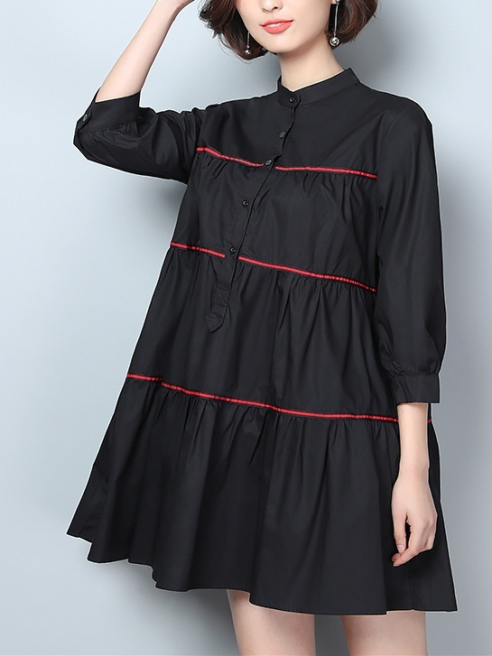 Kelsee Babydoll Shirt Dress(2 Colours)