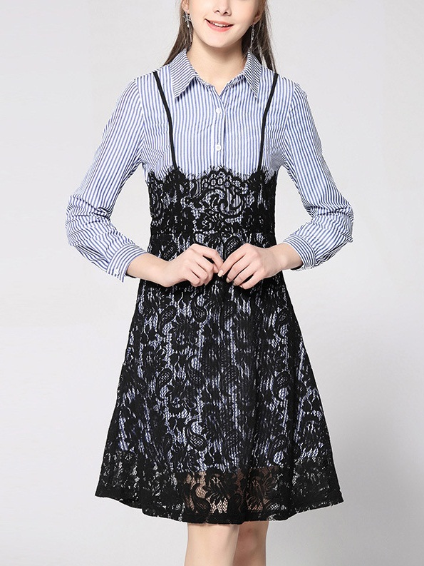 Kerttu Eyelash Lace Shirt Dress