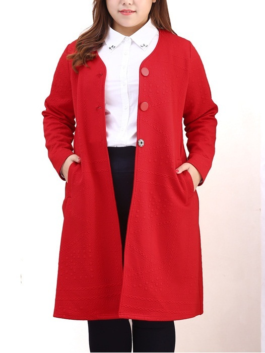 Kingsleigh Red Long Coat Jacket (EXTRA BIG SIZE)