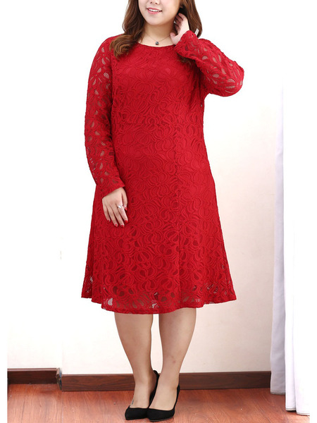 Kineret Lace Midi Dress (EXTRA BIG SIZE)