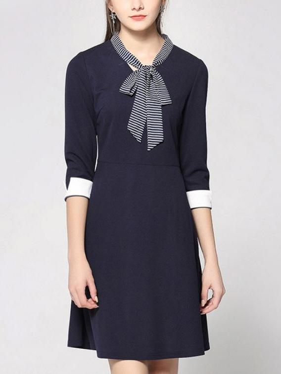 Kristol Ribbon Tie Dress